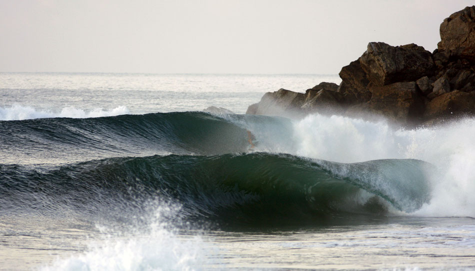 Empty wave, Salina Cruz, Mexico