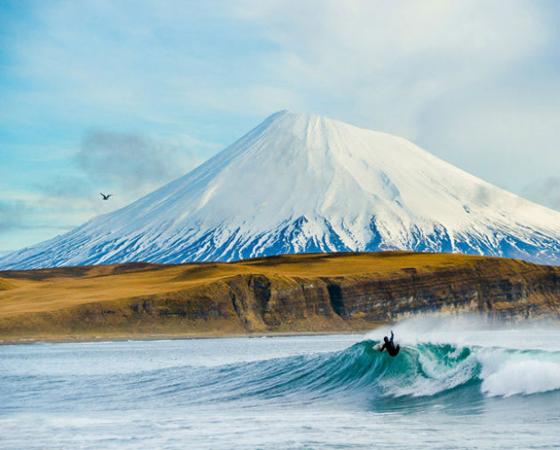 Josh Mulcoy in Alaska photo Chris Burkard